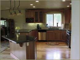 kitchen hickory kitchen cabinets with dark countertop rustic