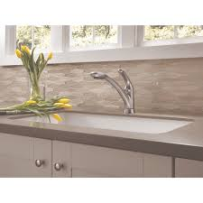 Kitchen Faucets With Pull Out Spray Delta Faucet 470 Ar Dst Signature Arctic Stainless Pullout Spray