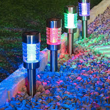 solar stake lights outdoor colour changing outdoor solar lights outdoor lighting