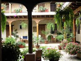 style courtyards central courtyard world style gardens and patios