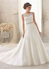 ivory wedding dresses new white ivory wedding dress bridal gown size 6 8 10 12 14 16