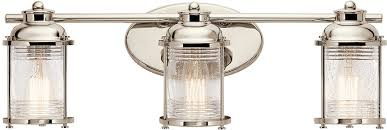 kichler 45772pn ashland bay polished nickel 3 light bath lighting