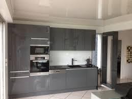 cuisine gris laqué cuisine gris laqué collection et cuisine gris anthracite laquae