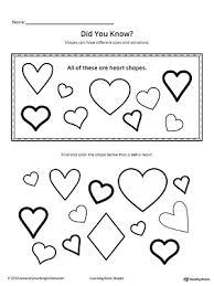 geometric shape sizes and variations heart geometric shapes