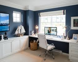 Blue Computer Desk by Nautical Inspired Office Or Study Space Ready Set Study