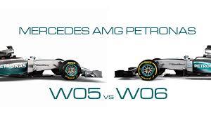 mercedes amg petronas f1 f1 mercedes amg petronas w05 vs w06 comparison