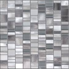 Aluminum Tile Backsplash by Mica Aluminum Blend Random Block Mosaics Accent Tile In Shower
