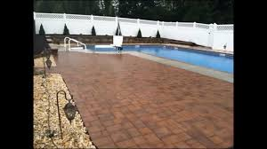 Landscaping Around Pools by Retaining Wall U0026 Paver Patio Installation Around Pool In East