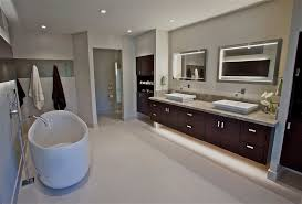 Contemporary Vanity Mirrors Glamorous Lighted Vanity Mirror In Powder Room Contemporary With