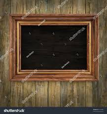 Picture Frame On Wall by Wooden Picture Frame On Old Wooden Stock Illustration 81151828