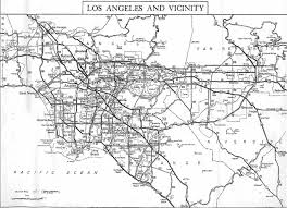 Los Angeles Downtown Map by California Highways Www Cahighways Org Southern California