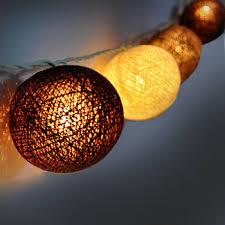 cotton balls string lights l brown furniture handmade for