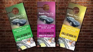 car wash door hanger template flyer templates creative market