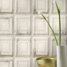 Distressed Wood Wall Panels by Rasch Distressed Wood Panel Wallpaper Grey White Available