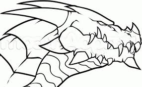 coloring pages dragon drawing simple cute easy to draw dragons