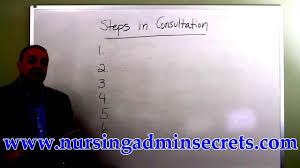 nursing admin exam steps in consultation youtube