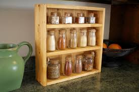 furniture recycled wooden spice rack for kitchen organizer ideas