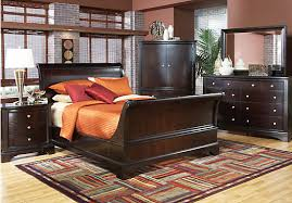 shop for a whitmore cherry sleigh 8 pc queen bedroom at rooms to
