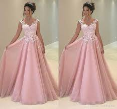 prom dresses from the 80s cheap baby pink 2018 prom dresses appliques lace a line tulle