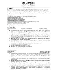 sample resume financial controller position confidential
