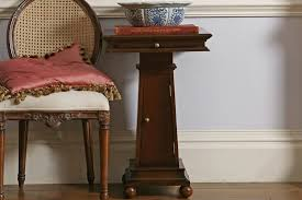 Square Pedestal Table Eclectic Square Bedside Pedestal Table And So To Bed