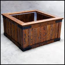 rustic planter barnwood planters large wood planters planters