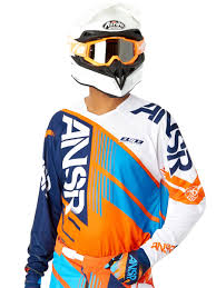 answer motocross helmets answer orange cyan white 2016 elite mx jersey answer