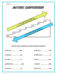 metric conversion worksheet metric conversion chart worksheet by the fours next door tpt