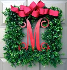 merry monogram wreath bow ridgewood designs