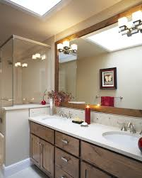 Beachy Bathroom Mirrors by Ung Drill Frame Spaces Contemporary With Wood Trim Rectangular