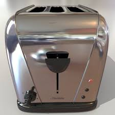 12 Slice Toaster Electric 3 Slice Toaster 3d Model Toaster Retro 3ds Max Dxf Fbx