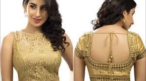 golden blouse mini guide on choosing the right golden blouse designs