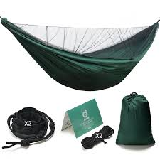 large single camping hammock with mosquito net pop up mosquito