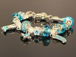 sterling pandora style bracelet images Athenafashion 925 sterling silver plated turquoise crystal jpeg