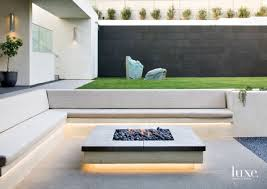 outdoor sitting modern neutral outdoor seating area with built in bench luxe