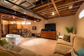 Partially Finished Basement Ideas Awesome Partially Finished Basement Ideas Partially Finished