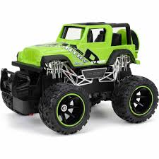 truck jeep wrangler new bright 1 24 radio control full function jeep wrangler green
