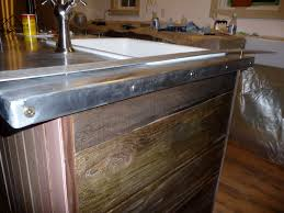 Zinc Top Bar Table Zinc Countertop Diy This Also Has Your Barnwood Look On The