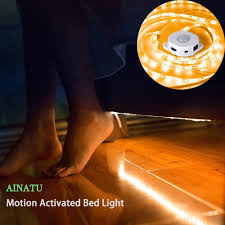 amazon com motion activated bed light ainatu under cabinet