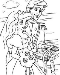 princess ariel in pretty dress coloring page and