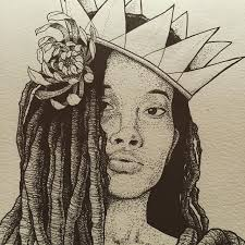 progress art drawing design illustration wip dotwork queen