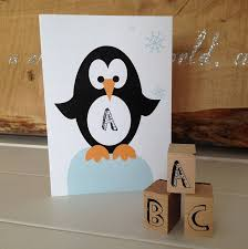 children s personalised penguin card by halfpinthome
