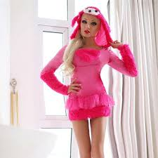 Lingerie Halloween Costumes 2017 Lingerie Dog Fur Suit Game Uniforms Temptation Cosplay