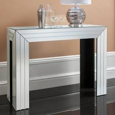 Mirrored Console Table Gallery Direct Corona Bevelled Mirrored Console Table Gallery