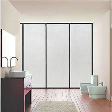 safety decals for glass doors amazon com coavas window film non adhesive frosted privacy window