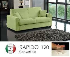 canap convertible 190 cm canape convertible rapido 120cm dreamer tissu microfibre vert anis