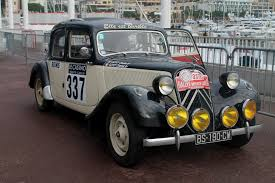 citroen classic citroen traction avant at the rallye monte carlo historique