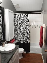 Bed Bath And Beyond Bathroom Mirrors by Hookless Shower Curtain Small With Shower Only Washing Machine