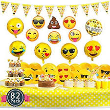party items 72 emoji party pack party supplies party favor