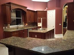 fine backsplash for santa cecilia granite countertop oak colored